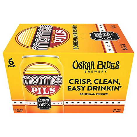 Oskar Blues Brewery Mamas Little Yella Blues Pils Cans - 6-12 Fl. Oz.