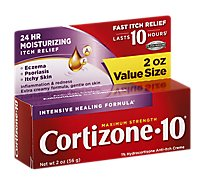 Cortizone 10 Anti-Itch Creme Maximum Strength Intensive Healing Formula - 2 Oz