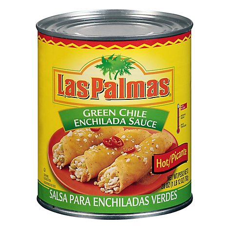 Las Palmas Sauce Enchilada Green Chile Picante Hot Can - 28 Oz
