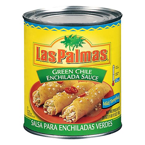Las Palmas Sauce Enchilada Green Chile Mild Can - 28 Oz