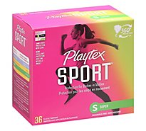 Playtex Sport Tampons Plastic Unscented Super Absorbency - 36 Count