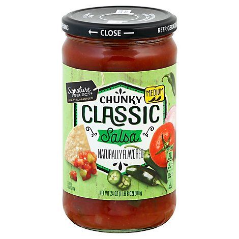 Signature SELECT Salsa Chunky Classic Medium Jar - 24 Oz