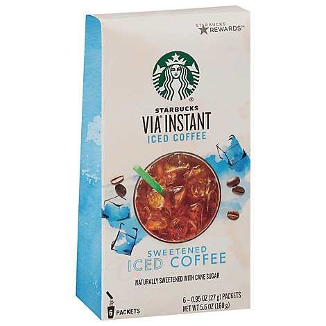 Starbucks VIA Instant Iced Coffee Sweetened Packets - 6-0.95 Oz
