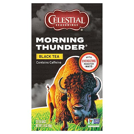 Celestial Seasonings Black Tea Morning Thunder - 20 Count