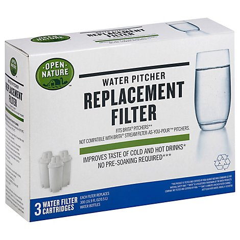 Open Nature Replacement Filter Water Pitcher - 3 Count