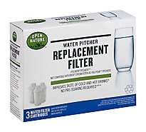 Open Nature/Bright Green Water Pitcher Replacement Filter - 3 Count