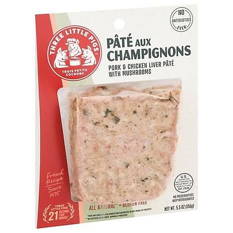 Three Little Pigs Pork & Chicken Liver Mousse With Truffles - 5.5 Oz