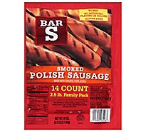Bar-S Sausage Smoked Polish Skinless - 40 Oz