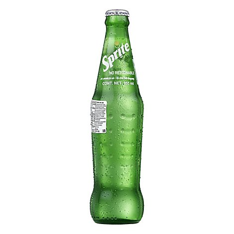 Sprite Soda Pop Lemon Lime Mexico Glass Bottle - 355 mL