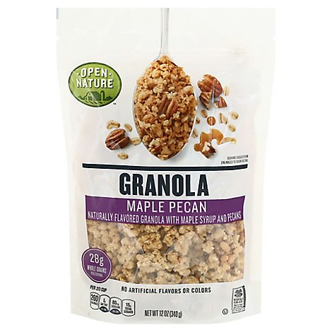 Open Nature Granola Maple Pecan Deluxe - 12 Oz