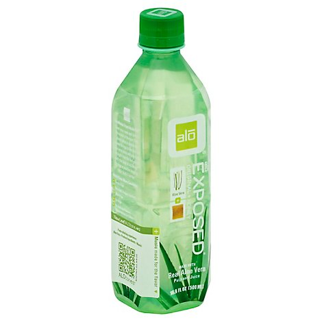 alo EXPOSED Aloe Vera Juice Drink Original + Honey - 16.9 Fl. Oz.