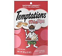 TEMPTATIONS MixUps Cat Treats Crunchy And Soft Backyard Cookout Flavor - 3 Oz