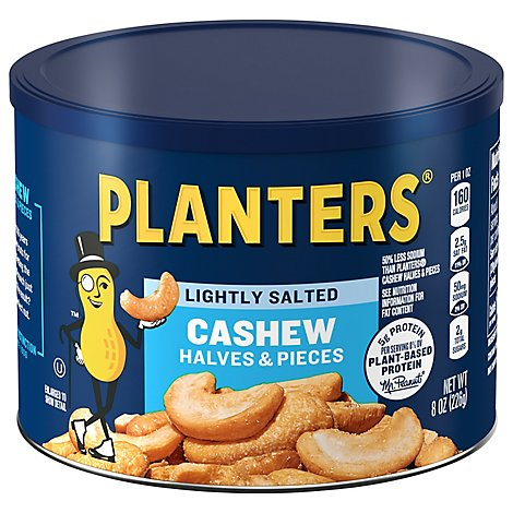 Planters Cashews Halves & Pieces Lightly Salted - 8 Oz