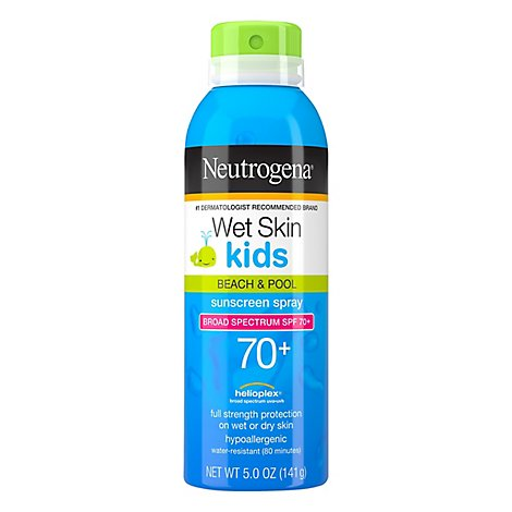 Neutrogena Wet Skin Kids Sunblock Spray - 5 Oz