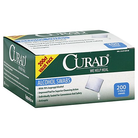 Curad Alcohol Swabs Value Pack - 200 Count