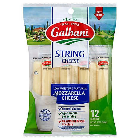 Galbani Stringsters Cheese High In Calcium - 12 Oz