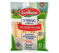Galbani Stringsters Reduced Fat String Cheese - 12 Oz