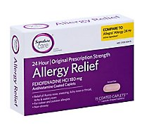 Signature Care Fexofenadine Hydrochloride Allergy Tablets - 15 Count