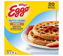 Eggo Nutri-Grain Frozen Waffles Original Easy Breakfast Family Pack - 24.6 Oz