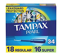 Tampax Pearl Tampons Plastic Duo Pack Unscented - 36 Count