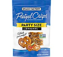 Snack Factory Pretzel Crisps Pretzel Crackers Thin Crunchy Deli Style Original - 14 Oz