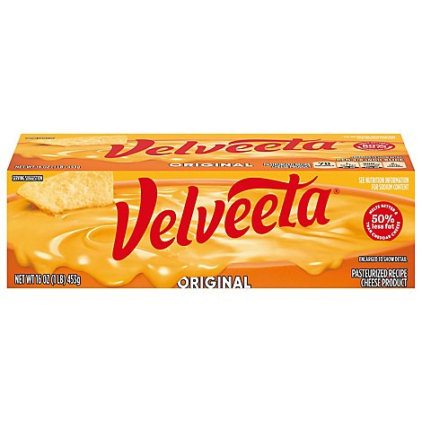 Velveeta Cheese Original Melts Better 45% Less Fat - 16 Oz