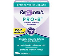 RepHresh Pro-B Probiotic Feminine Supplement - 30 Count