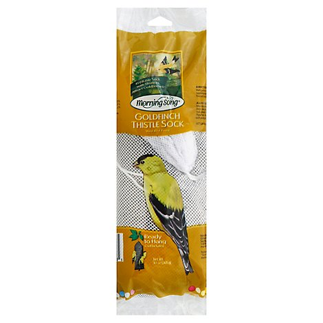 Morning Song Wild Bird Food Thistle Sock Goldfinch Bag - 13 Oz