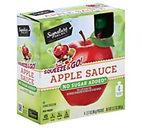 Signature SELECT Apple Sauce Squeeze & Go Apple Pouches - 4-3.17 Oz