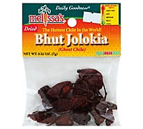 Peppers Dried Ghost Chiles Bhut Jolokia - .25 Oz