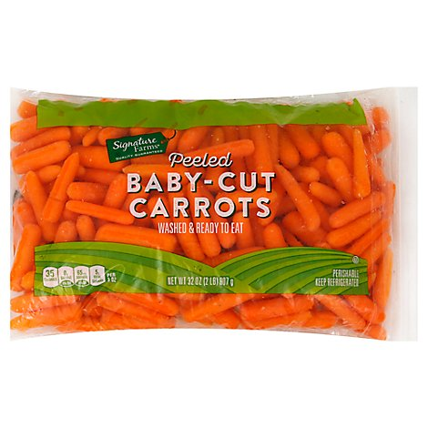 Signature Farms Carrots Baby-Cut Peeled - 32 Oz