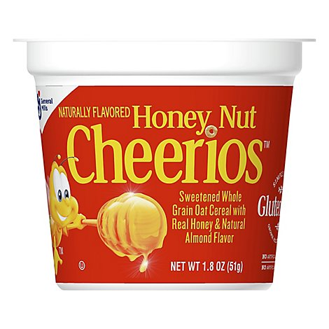 Cheerios Cereal Whole Grain Oat Honey Nut Cup - 1.8 Oz