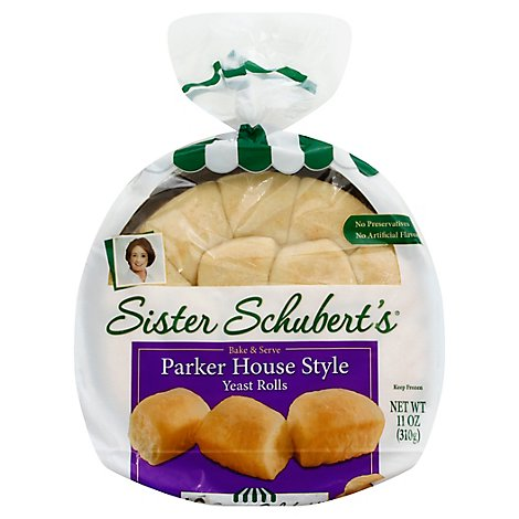 Sister Schuberts Yeast Rolls Warm & Serve Parker House Style - 11 Oz