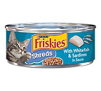 Friskies Cat Food Savory Shreds With Whitefish & Sardines In Sauce Can - 5.5 Oz