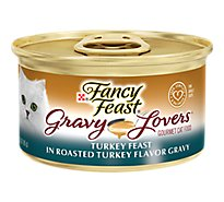 Fancy Feast Cat Food Wet Gravy Lovers Turkey In Roasted Turkey Gravy - 3 Oz