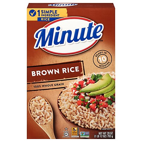 Minute Rice Brown Instant Whole Grain - 28 Oz