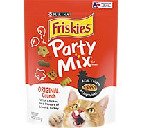 Friskies Cat Treats Party Mix Chicken Liver & Turkey - 6 Oz