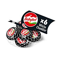Mini Babybel White Cheddar Snack Cheese 6 Pack - 4.2 Oz.