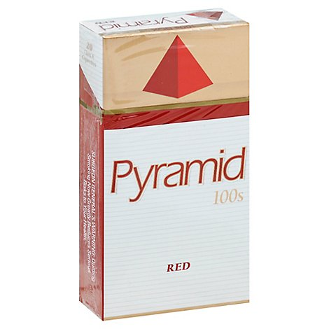 Pyramid Cigarettes Red Box 100s - Pack