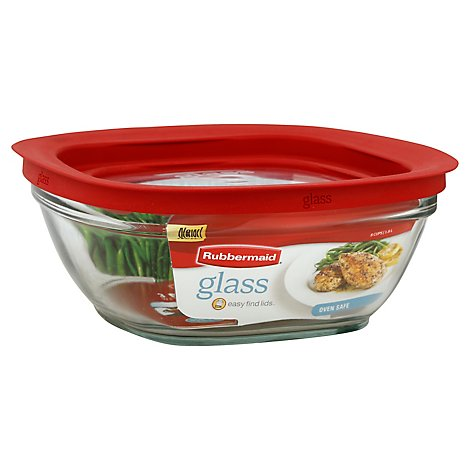 Rubbermaid Glass Square 8 Cups - Each