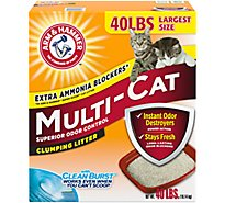 ARM & HAMMER Cat Litter Clumping Multi-Cat Extra Strength Extra Value Box - 40 Lb