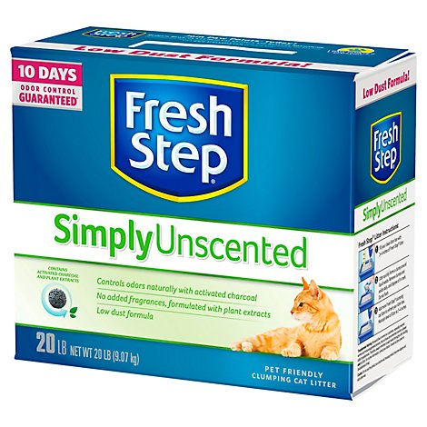 Fresh Step Cat Litter Scoopable Multi-Cat Unscented Box - 20 Lb