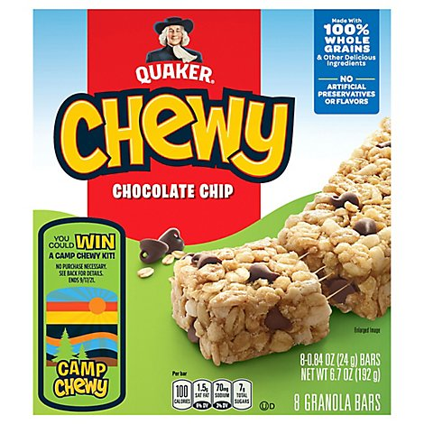Quaker Chewy Granola Bars Chocolate Chip - 8-0.84 Oz