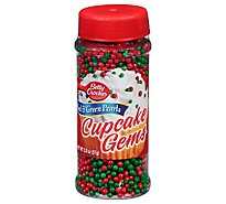 Betty Crocker Cupcake Gems Red And Green Pearls - 2.0 Oz