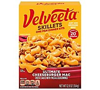 Velveeta Cheesy Skillets Dinner Kit Ultimate Cheeseburger Mac Box - 12.8 Oz