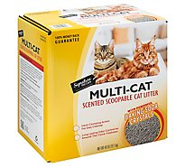 Signature Pet Care Cat Litter Scented Multiple Cat - 40 Lb