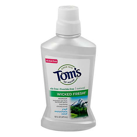 Toms of Maine Mouthwash Wicked Fresh! Cool Mountain Mint - 16 Fl. Oz.