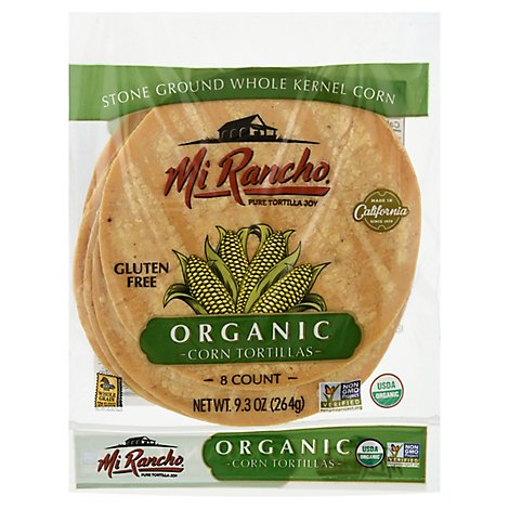 Mi Rancho Organic Tortilla Corn Bag 8 Count - 9.33 Oz