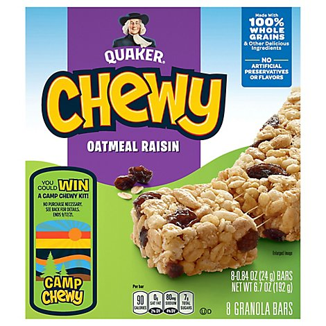 Quaker Chewy Granola Bars Oatmeal Raisin - 8-0.84 Oz