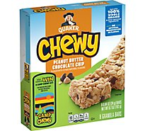 Quaker Chewy Granola Bars Peanut Butter Chocolate Chip - 8-0.84 Oz